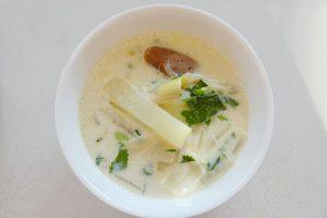 ソーセージ入りまっしろダイコンスープ 日野菜キッチン レシピ