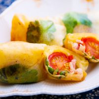 ミニトマトの春巻き 日野菜キッチンカフェ レシピ